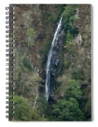 Waterfall In The Intag 3 Spiral Notebook