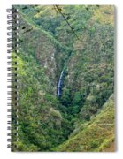 Waterfall In The Intag 4 Spiral Notebook