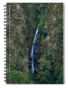 Waterfall In The Intag 5 Spiral Notebook