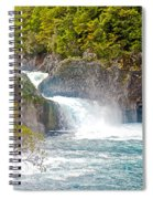 Waterfall In Vicente Perez Rosales National Park Near Puerto Montt-chile  Spiral Notebook