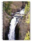 Waterfall In Yellowstone Spiral Notebook