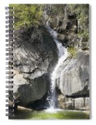 Waterfall Into The Feather River Spiral Notebook