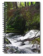 Waterfall Near Tallybont-on-usk Wales Spiral Notebook