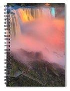 Waterfall Night Lights Spiral Notebook