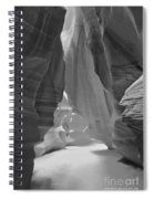Waterfall Of Light - Black And White Spiral Notebook