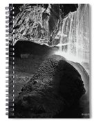 Waterfall Of The Caverns Black And White Spiral Notebook