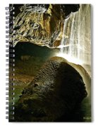Waterfall Of The Caverns Spiral Notebook