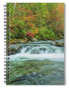 Waterfall On Little Pigeon River Smoky Mountains Spiral Notebook