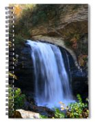 Waterfall On The Cliff Edge Spiral Notebook