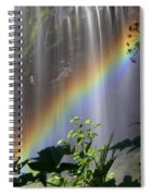 Waterfall Rainbow Spiral Notebook