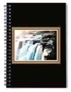 Waterfall Scene For Mia Parker - Sutcliffe L A S With Decorative Ornate Printed Frame.  Spiral Notebook