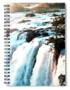 Waterfall Scene For Mia Parker - Sutcliffe L B Spiral Notebook