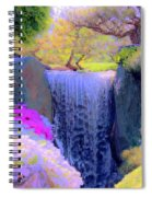 Waterfall Spring Colors Spiral Notebook