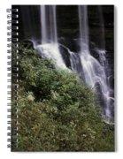 Waterfall Wildflowers Spiral Notebook
