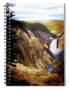 Waterfall Yellowstone 2 Spiral Notebook