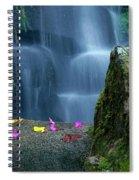 Waterfall02 Spiral Notebook