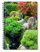 Waterfalls In Japanese Garden Spiral Notebook