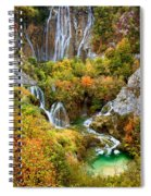 Waterfalls In Plitvice Lakes National Park Spiral Notebook