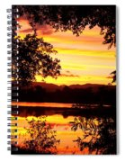 Waterfront Spectacular Sunset Spiral Notebook