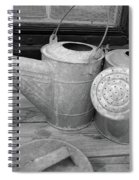 Watering Cans And Tubs B  W Spiral Notebook