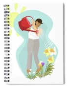 Watering Plants Spiral Notebook