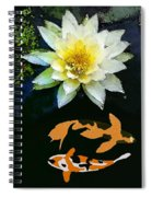 Waterlily And Koi Pond Spiral Notebook