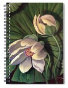 Waterlily Like A Clock Spiral Notebook