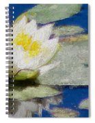 Waterlily Reflections Spiral Notebook