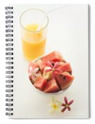 Watermelon And Banana Fruit Salad With Orange Juice Spiral Notebook