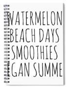 Watermelon, Beach Days Smoothies Spiral Notebook