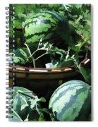 Watermelon In A Vegetable Garden Spiral Notebook