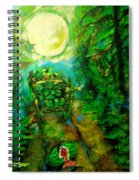 Watermelon Wagon Moon Spiral Notebook