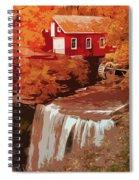 Watermill In Autumn Spiral Notebook