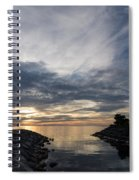 Waterscape In Gray And Yellow Spiral Notebook