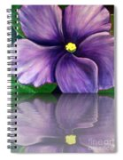 Watery African Violet Reflection Spiral Notebook