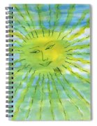 Watery Sunshine Spiral Notebook