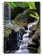 Watkins Glen Rainbow Falls Spiral Notebook
