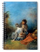 Watteau: False Step, C1717 Spiral Notebook