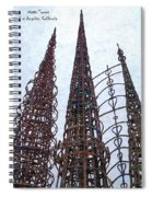 Watts Towers 2 - Los Angeles Spiral Notebook