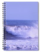 Wave At Jersey Shore Spiral Notebook