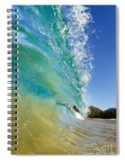Wave Breaking At Makena Spiral Notebook