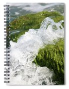 Wave Splash On The Green Rock Spiral Notebook