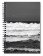 Waves 1 In Bw Spiral Notebook