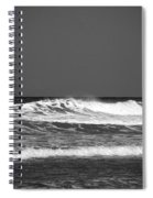 Waves 2 In Bw Spiral Notebook