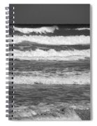Waves 3 In Bw Spiral Notebook