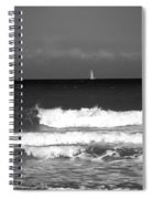 Waves 4 In Bw Spiral Notebook