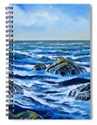 Waves And Foam Spiral Notebook