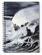 Waves At Night Spiral Notebook