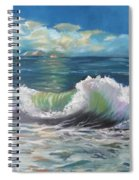 Waves At Sunset  Spiral Notebook