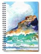 Waves Bursting On Rocks Spiral Notebook